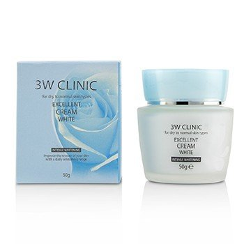 3W Clinic Excellent White Cream (Intensive Whitening) - For Dry to Normal Skin Types